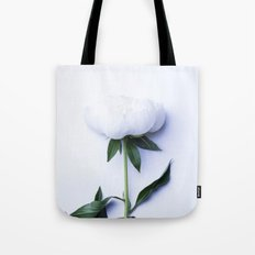 White Peony - Antique Flower Tote Bag