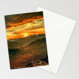 Mountains Ablaze Stationery Cards