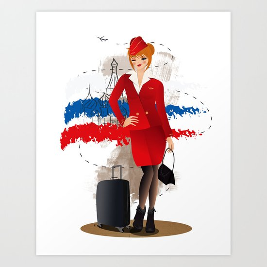 Come fly with me, let's fly, let's fly away - Russia Art Print