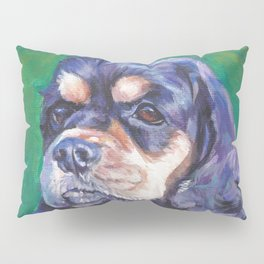Cocker Spaniel dog art portrait from an original painting by L.A.Shepard Pillow Sham