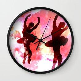 Morning Dancers Wall Clock