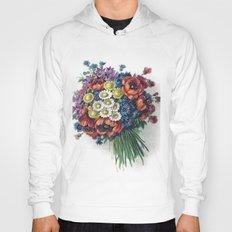 Retro Romantic Floral Bouquet Hoody
