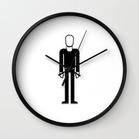 phil jones Wall Clocks featuring Phil Collins by Band Land
