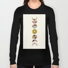 Floral Phases of the Moon Long Sleeve T-shirt