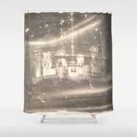 russia Shower Curtains featuring Stained Russia by Jeffrey J. Irwin