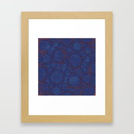 Cercles velours Framed Art Print