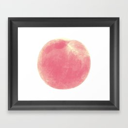 peach Framed Art Print