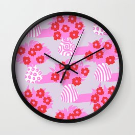Ornamental Vessels - Pink Wall Clock
