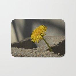 Dandelion That Grew From Concrete Bath Mat