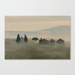 Pastel morning in Toscany Canvas Print