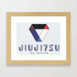 Jiujitsu - Slap Bump Roll Framed Art Print