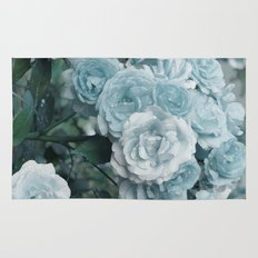 A cloud of blue roses Rug