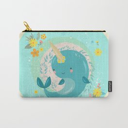 Pretty Princess Narwhal Carry-All Pouch