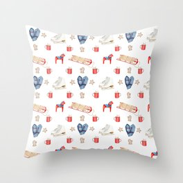 A Nordic Holiday Throw Pillow