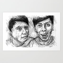 Dan & Phil Scribble Art Print