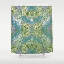 Jungle Print Teal Shower Curtain