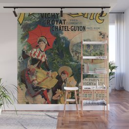 Vintage Auvergne French travel advertising Wall Mural