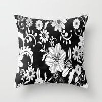 floral pattern Throw Pillows featuring Floral pattern by Laake-Photos