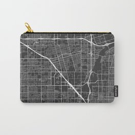Anaheim Map, USA - Gray Carry-All Pouch