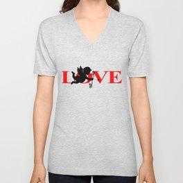 Love - Cupid Bow and Arrow Heart Shirt Unisex V-Neck