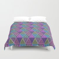 triangles Duvet Covers featuring Triangles by gretzky