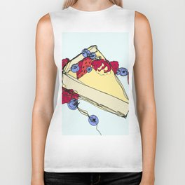 Cheesecake with Toppings Biker Tank