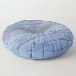 purple and green distressed stained painted wood board wall Floor Pillow
