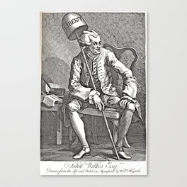 Radical Journalism - Engraving of John Wilkes - 18th Century  Canvas Print