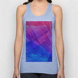 STRANGE LIGHTS - Abstract Digital Image Texture Glitch Art Unisex Tank Top