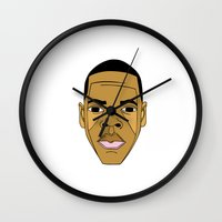 jay z Wall Clocks featuring Jay-Z by ΛDX7