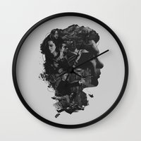 inception Wall Clocks featuring Inception by Jason Vaughan