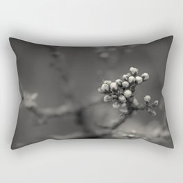 spring is upcoming - black'n white Rectangular Pillow