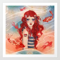 pirate Art Prints featuring Pirate by Minasmoke