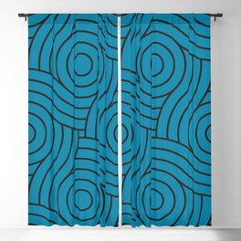 Circle Swirl Pattern Inspired By Primary Blue, Wishing Well Blue, Amazing Sky Blue, Blue to the Bone Blackout Curtain