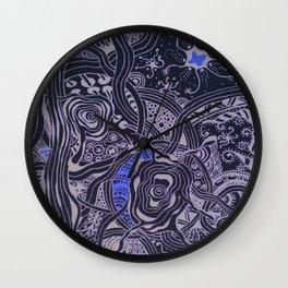 Abstract zentangle design Wall Clock