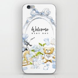 Baby Boy Print iPhone Skin