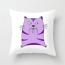 Fraidy Cat Throw Pillow