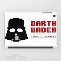 8 bit iPad Cases featuring 8-bit Darth Vader by Sylwia Borkowska