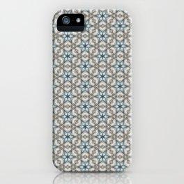 Blue & Cement Gray Geometric Stars iPhone Case