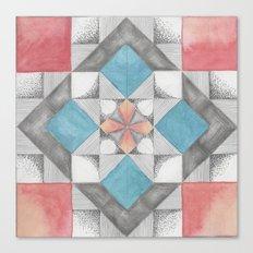 Mosaic Sakura Canvas Print