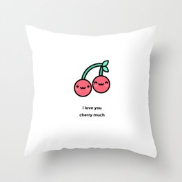 JUST A PUNNY CHERRY JOKE! Throw Pillow