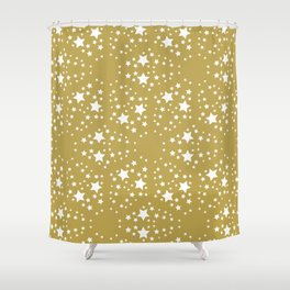 Gold and stars Shower Curtain