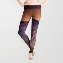 hollywood sign aerial view Leggings