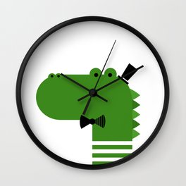 HANDSOME CROCODILE Wall Clock