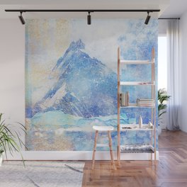Blue Ice Mountains :: Fine Art Collage Wall Mural