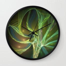 Delicate And Luminous Fractals Art Wall Clock