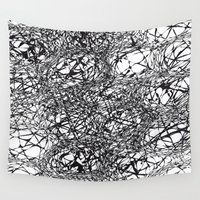 grid Wall Tapestries featuring grid bubbles by Matthias Hennig