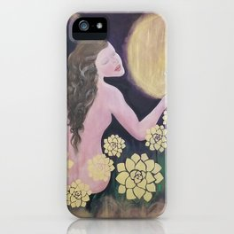 Shared Beauty Under the Golden Moon iPhone Case