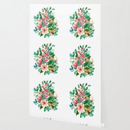 Colorful island floral brunch bouquet Wallpaper