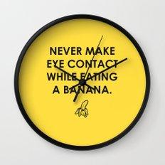 Eating a Banana Wall Clock